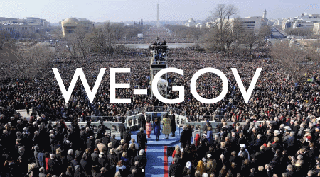 Image of Obama Inauguration, representing we-government concept